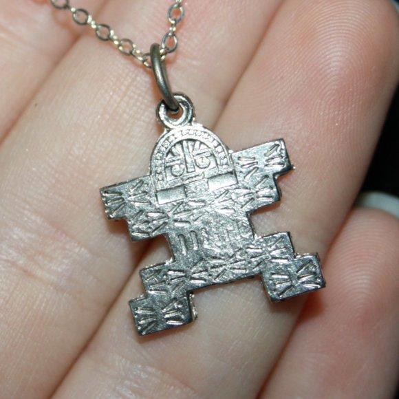 Silver Aztec Charm necklace